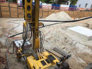 Baustelle in Troisdorf - Umsetzung eines Geothermie-Projekts